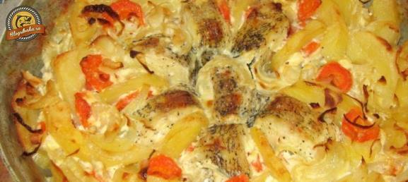щука запеченная в духовке с картошкой